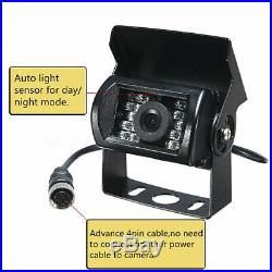 9 Quad Monitor 4Pin Tech Kit 4x CCD Camera Side Rear View Camera For Truck Bus