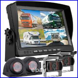 9 Quad Monitor DVR Recorder with 4 Rear View Backup Camera for Truck Trailer