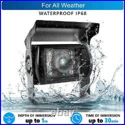 9 Quad Split Monitor Screen + 4x Side Rear View Backup Camera For Bus Truck RV
