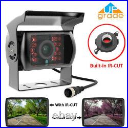 9 Quad Split Monitor Screen + Rear View Backup Camera System For Bus Truck RV