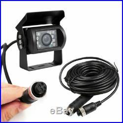 9 Quad Split Monitor Screen + Rear View Camera Backup 10M/20M For Bus Truck RV