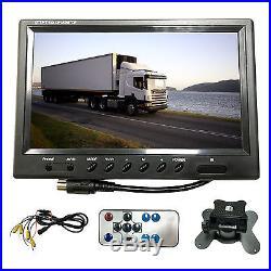 9 Quad Split Screen Car Rear View Monitor+4xBackup Reverse CCD LED Camera Kit