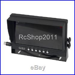 9 TFT LCD Monitor + Waterproof Car Rear View IR Night Vision Backup 4 Camera