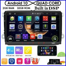 9for VW Golf Mk5 Mk6 Car Radio Stereo NO-DVD SatNav GPS Android 10 Wifi Cam Map
