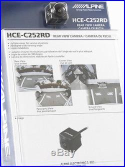 ALPINE HCE-C252RD Universal Waterproof Remote Mount Multi-View Backup Camera NEW