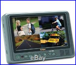 AOM7694 Voyager 7 Inch HD Multi-Screen Rear View LCD Monitor with 4 Camera Inputs