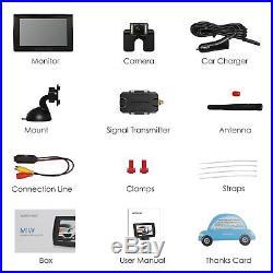 AUTO-VOX M1W Wireless Backup Camera Kit LCD Mirror Monitor + Rear View Camera