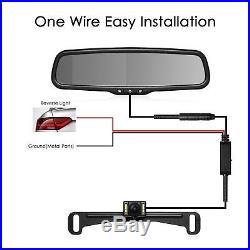 AUTO-VOX T2 4.3 LCD Rear View Mirror Monitor + License Plate Backup Camera Kit