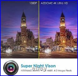 AZDOME Dual Lens Car Dash Cam 4K Ultra HD With WiFi & GPS Night Vision G-Sensor