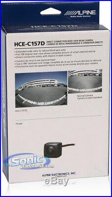 Alpine HCE-C157D Rear-View CMOS 190 Degree Camera With Direct Input