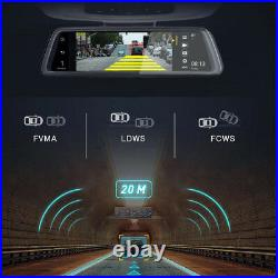 Android 10 ADAS Car DVR Touch Streaming Video RearView Mirror Camera Recorder