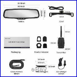 Auto-Vox Wireless Backup Camera Kit 4.3'' LCD Mirror Monitor + Rear View Camera