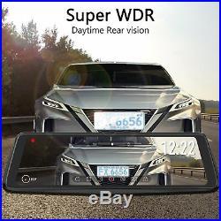 Auto-Vox X1Pro 9.88 Dual Lens Car DVR Rear View Mirror Dash Cam Camera Recorder