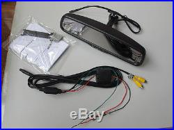 Auto dim mirror+backup camera 3.5 dispaly, fits Ford, Nissan, GM, include a camera
