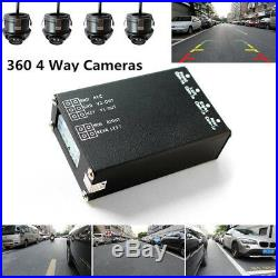 Autos Parking Panoramic View All Round Car 4-Way Camera Rearview Monitor System