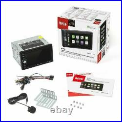 BOSS BCP62 + REAR VIEW CAMERA Apple CarPlay Bluetooth 2-DIN NO CD/DVD 6.2 LCD