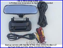 Backup camera & rear view monitor 4.3 for Ford F150 2005-14, F250 F350 2008-16