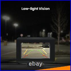 Boscam Solar Power Wireless Rear View Backup Reversing Camera Kit 5 Min Install