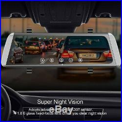 Campark Mirror Dash Cam 10 Backup Camera Video Streaming Rear View Dual Camera