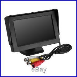 Car Backup Camera Rear View Night Vision Cam & Foldable 4.3 TFT LCD Monitor Kit