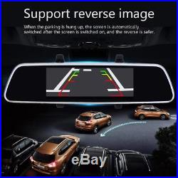 Car DVR 7 Bluetooth Android 5.0 WIFI GPS 1080P Video Recorder Rear View Camera
