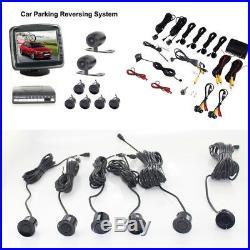 Car Front Rear View Camera+3.5 Monitor+6 Parking Sensors Sound Alert Indicator