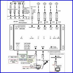 Car Night Vision DVR Full View Monitoring Backup 4 Camera Recorder Control Box