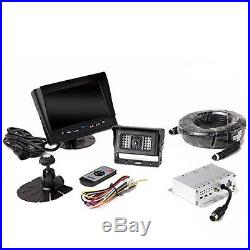 Car Rear View Camera & Monitor Truck Reverse Heated Backup Safety Kit System