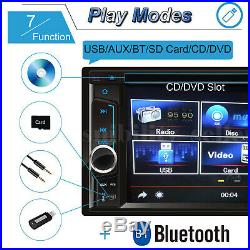 Car Stereo Radio Set Player Hands-free 2Din Rear View Camera Mirror Link For GPS