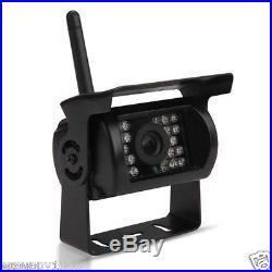 DUAL Wireless Rear View Backup Camera Night Vision +7 Monitor For RV Truck Bus