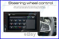 Double 2Din 6.2 Car Stereo Radio DVD CD Player In Dash SWC MP3 Rear View Camera