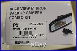 Echomaster Mrc-lp01cp Rear View Mirror Backup Camera Combo Kit Black D1