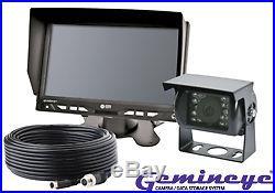 Ecco K7000B Gemineye Backup Reverse Camera Monitor System 7 LCD