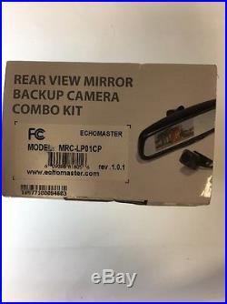 EchoMaster Rear-View Mirror Back-Up Camera Kit Black