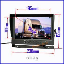 FHD 1080P Reverse Backup Camera System + 9 IPS DVR Car Rear View Monitor RV Bus