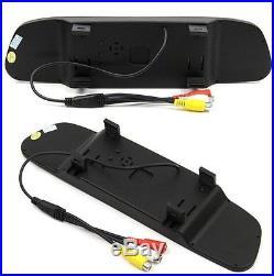 For Chevrolet Express Van/GMC Savana Brake Light Backup Camera+Rear View Monitor