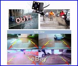 Full HD 1080P Dual lens 7 Car DVR Rearview Camera Recorder GPS Navigation WIFI