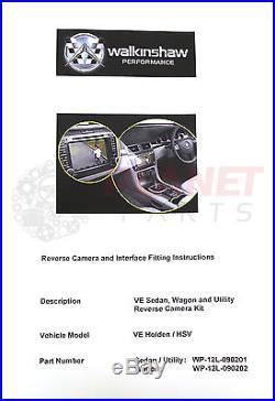 GENUINE HSV Holden VE Commodore SERIES 1 Reverse Camera Kit SEDAN UTE SS UNIT