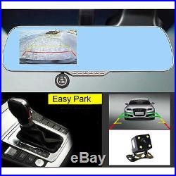 GPS Sat Nav Dash Cam HD 1080P Android WIFI Rear View Mirror Vehicle Dual Camera