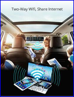 HD 1080P Car DVR Dash Cam 4G GPS Video Camera Recorder Rear View Mirror Front