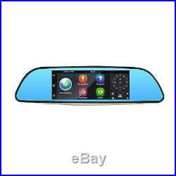 HD 7 Android Car DVR Rear View Mirror GPS WiFi Bluetooth Monitor+Reverse Camera