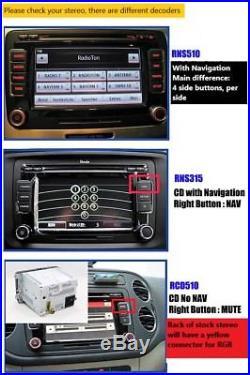 Hd Vw Logo Rearview Camera For Volkswagen Passat CC Golf Polo Vw Emblem Rgb Port
