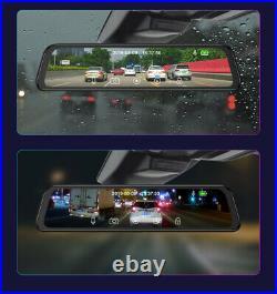 JUNSUN 12'' HD Car DVR Dash Cam Camera Video Recorder Rearview Mirror DVR