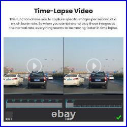 JUNSUN 12 inch FHD 2K Dash Camera Car DVR Rearview Mirror Dual Lens Cycle record