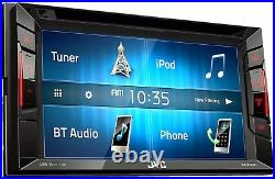 JVC Double Din Bluetooth Car Stereo 6.2 Touchscreen With Rearview Backup Camera