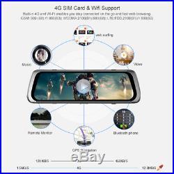 Junsun 10 ADAS 4G Android 5.1 FHD 1080P Dash Camera Rear View Mirror Car DVR