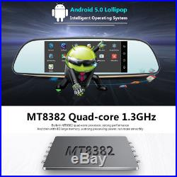 Junsun 3G 7'' Dual Lens DVR Rear view Mirror WiFi Bluetooth Dash Cam Camera+GPS