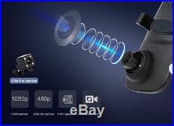 Junsun 4G 7 Dual Lens Car Camera DVR GPS Navigator Rear view Mirror Dash Cam