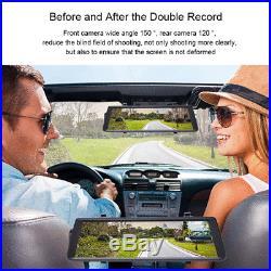 Junsun FHD 1080P 10 ADAS Dual Lens 4G Rear view Mirror Car DVR Dash Camera GPS