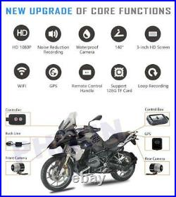 Motorcycle DVR Dash Cam Front Rear View Motorcycle Camera GPSLogger Recorder Box